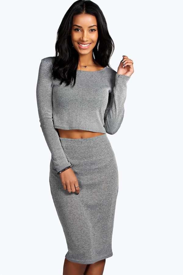Вязаная юбка узкая
