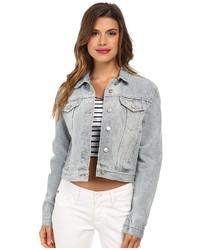 Серая джинсовая куртка