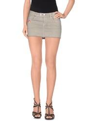 Серая джинсовая мини-юбка