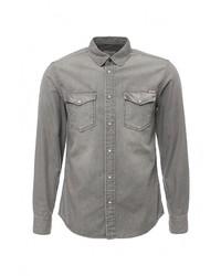 c9e1dddc787 Купить мужскую серую джинсовую рубашку - модные модели джинсовых ...