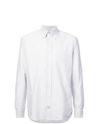 Мужская серая классическая рубашка в вертикальную полоску от Gitman Vintage
