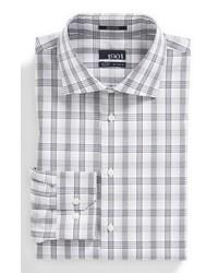 Серая классическая рубашка в шотландскую клетку