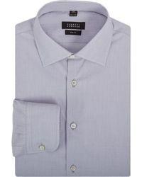 Серая классическая рубашка