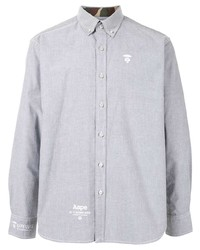 Мужская серая классическая рубашка от AAPE BY A BATHING APE