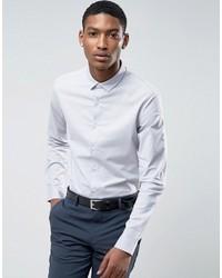 Мужская серая классическая рубашка от Asos