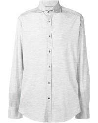 Мужская серая классическая рубашка от Brunello Cucinelli