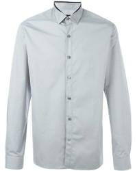 Мужская серая классическая рубашка от Lanvin