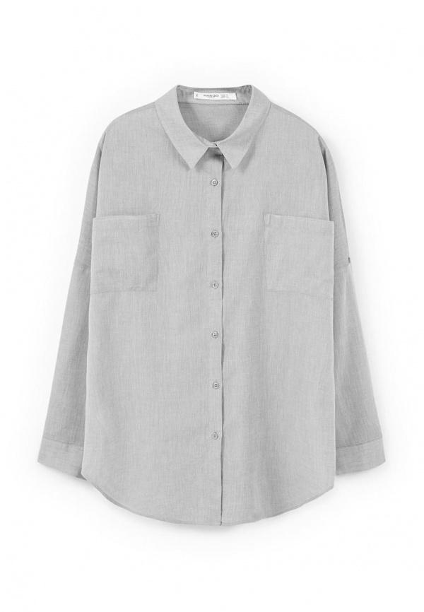 30b2804c004 ... Женская серая классическая рубашка от Mango ...