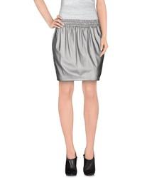 Женская серая кожаная мини-юбка от M.Grifoni Denim