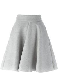 Серая короткая юбка-солнце