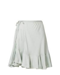 Серая короткая юбка-солнце от Chloé