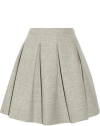 Серая короткая юбка-солнце от Miu Miu