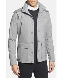 Серая куртка в стиле милитари