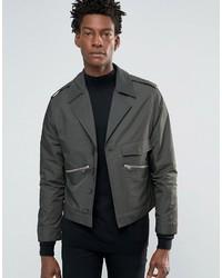 Мужская серая куртка в стиле милитари от Asos