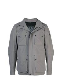 Мужская серая куртка в стиле милитари от Belstaff