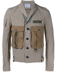 Мужская серая куртка в стиле милитари от Kolor