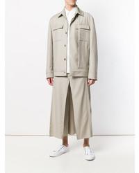 Мужская серая куртка в стиле милитари от Chalayan