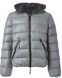 Серая куртка-пуховик