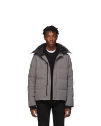 Мужская серая куртка-пуховик от Canada Goose
