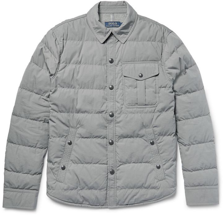 28debfcb9cbc Мужская серая куртка-пуховик от Polo Ralph Lauren   Где купить и с ...