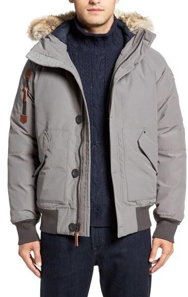 5f5b592bc7cb Мужская серая куртка-пуховик от Sorel   Где купить и с чем носить