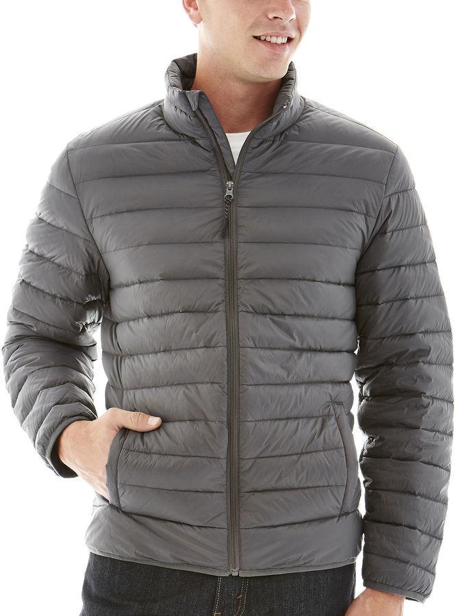 27c74eac49c1 Мужская серая куртка-пуховик   Где купить и с чем носить