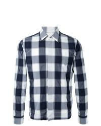 Мужская серая куртка-рубашка в клетку от Kent & Curwen
