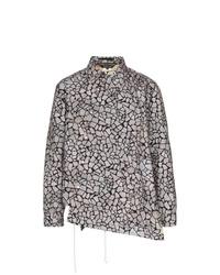 Мужская серая куртка-рубашка с принтом от Comme Des Garcons Homme Plus