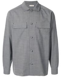 Мужская серая куртка-рубашка от Education From Young Machines