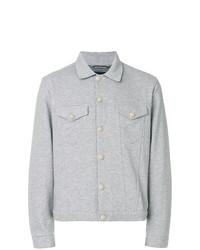 Мужская серая куртка-рубашка от Jacob Cohen