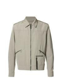 Мужская серая куртка-рубашка от Lanvin