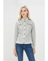 Женская серая куртка-рубашка от Tantino