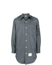 Мужская серая куртка-рубашка от Thom Browne
