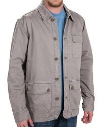 Серая куртка с воротником и на пуговицах