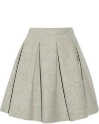 Серая мини-юбка со складками