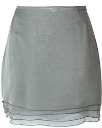 Серая мини-юбка