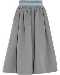 Серая пышная юбка