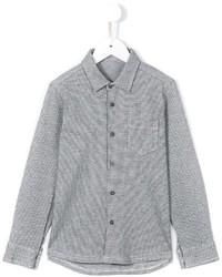 Детская серая рубашка с длинным рукавом в клетку для мальчику от Il Gufo