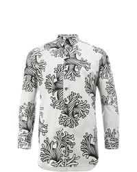 Мужская серая рубашка с длинным рукавом с принтом от Christopher Nemeth