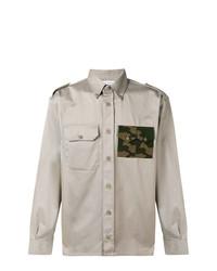 Мужская серая рубашка с длинным рукавом с принтом от Gosha Rubchinskiy