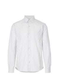 Мужская серая рубашка с длинным рукавом с принтом от Loveless