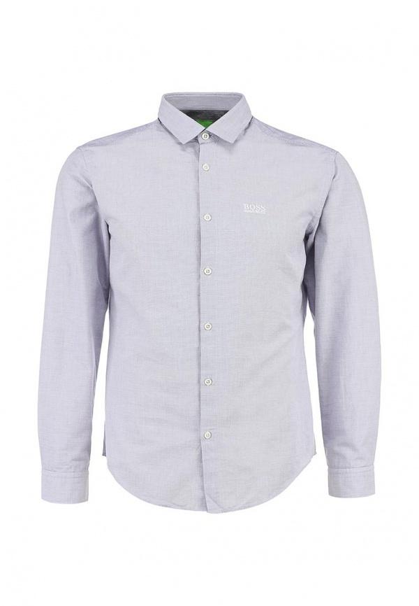 ea693d92b44 ... Мужская серая рубашка с длинным рукавом от Boss Green ...