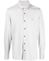 Мужская серая рубашка с длинным рукавом от Calvin Klein