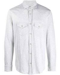 Мужская серая рубашка с длинным рукавом от Eleventy
