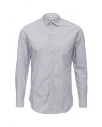 Мужская серая рубашка с длинным рукавом от Mango Man