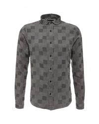 Мужская серая рубашка с длинным рукавом от Only & Sons