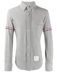 Мужская серая рубашка с длинным рукавом от Thom Browne