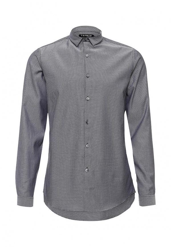 d431e665971 ... Мужская серая рубашка с длинным рукавом от Topman ...