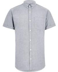 Серая рубашка с коротким рукавом