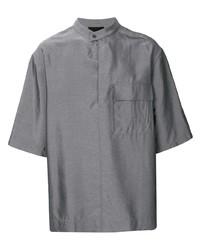 Мужская серая рубашка с коротким рукавом от 3.1 Phillip Lim